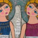 Original Painting Quilt Sisters Angels