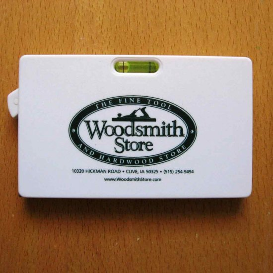 Woodsmith Store Tape Measure Level advertising specialty collectible Fine Tool and Hardwood Store