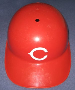 Cincinnati Reds Full Size Souvenir MLB Baseball Batting Helmet with Red Bill