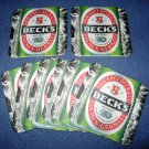 Becks Beer Coasters Bar Pub Mats set of 10