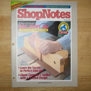 Box Joint Jig ShopNotes Magazine 2002 Vol. 11 Issue 62