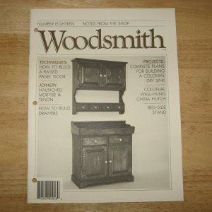 Colonial Dry Sink Woodsmith Woodworking Magazine 1981 Issue 18