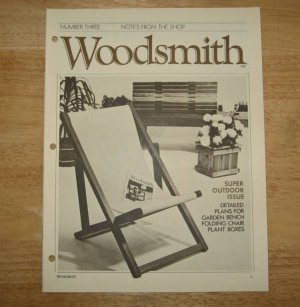 Outdoor Furniture Woodsmith Magazine 1979 Issue 3