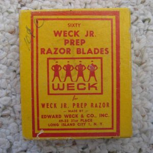 Old Box of Weck Jr. Prep Razor Blades 50 small blades for Weck Jr. Knife Tool