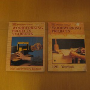 2 Popular Science Woodworking Projects Yearbooks 1991 and 1992