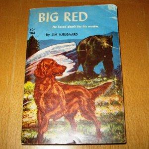 Big Red 4th Printing 1962 Classic Irish Setter Dog Paperback Book By Jim Kjelgaard