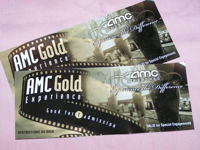 2 AMC Theatre tickets.