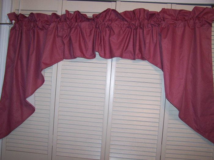 Rose colored valance