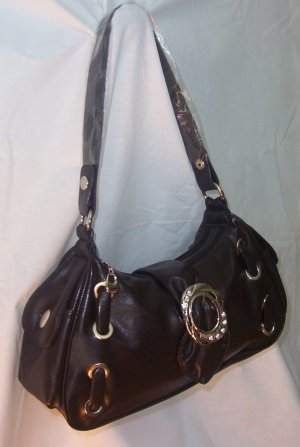 Designer Soft Cocoa Front Buckle Handbag
