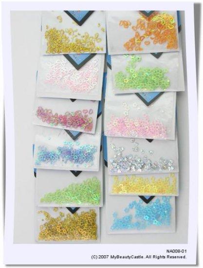 Wholesale 600pcs Colorful Heart Star Shaped Nail Art Decoration FREE SHIPPING [NA008]