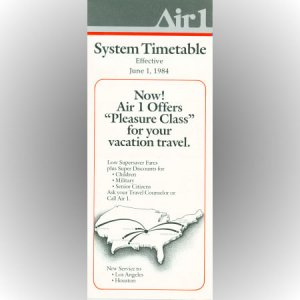 Air 1 system timetable 6/1/84 ($)