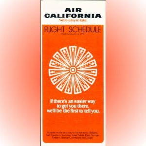 Air California system timetable 1/5/76 ($)