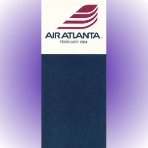 Air Atlanta inaugural system timetable 2/84 ($)