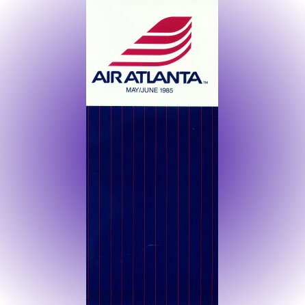 Air Atlanta system timetable 5/85 ($)