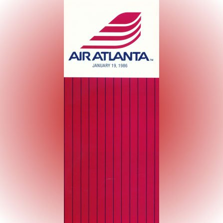 Air Atlanta system timetable 1/19/86 ($)