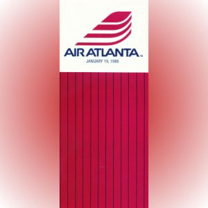 Air Atlanta system timetable 1/19/86 ($)