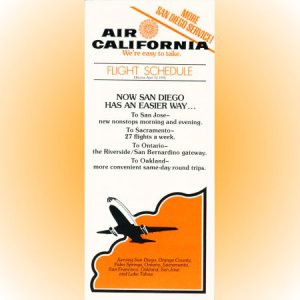 Air California system timetable 4/12/76 ($)