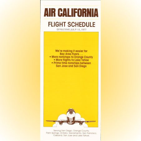Air California system timetable 7/15/77 ($)