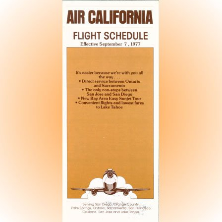 Air California system timetable 9/7/77 ($)