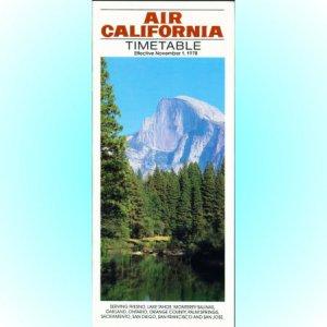 Air California system timetable 11/1/78 ($)