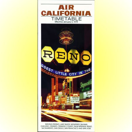 Air California system timetable 1/3/79 ($)