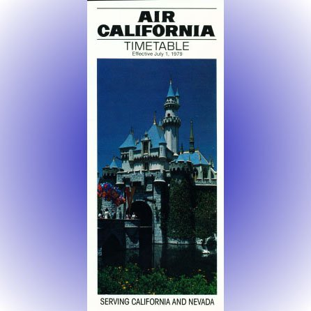 Air California system timetable 7/1/79 ($)