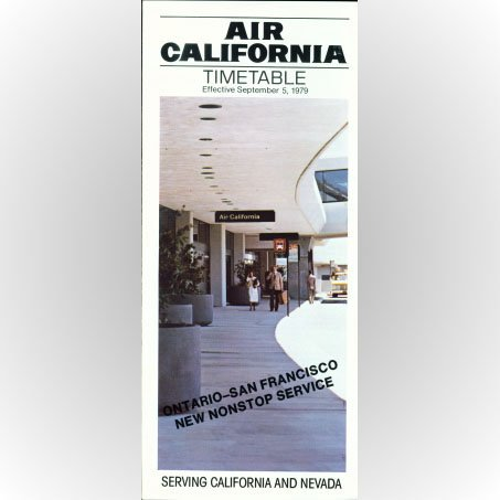 Air California system timetable 9/5/79 ($)