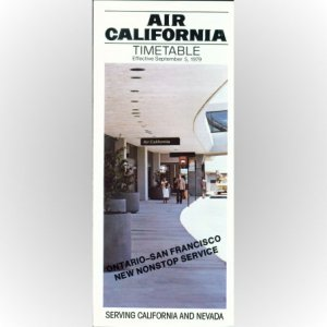 Air California system timetable 9/5/79 ($)