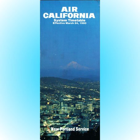 Air California system timetable 3/24/80 ($)
