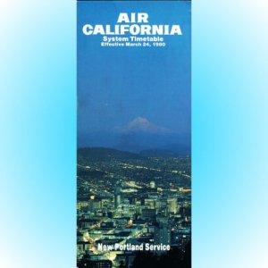 Air California system timetable 3/24/80 ($)