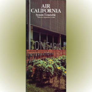 Air California system timetable 9/4/80 ($)