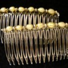 Golden Pearls Hair Comb Combs Pair - UnuauslJewels
