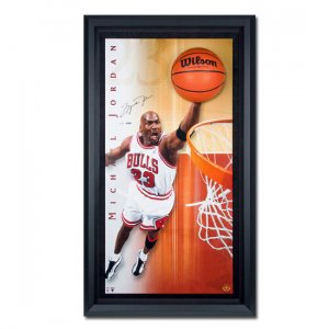Michael Jordan Autographed Chicago Bulls -Breaking Through- Display Piece - Framed (UDA)