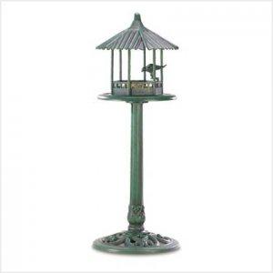 Verdigris Gazebo Standing Bird Feeder