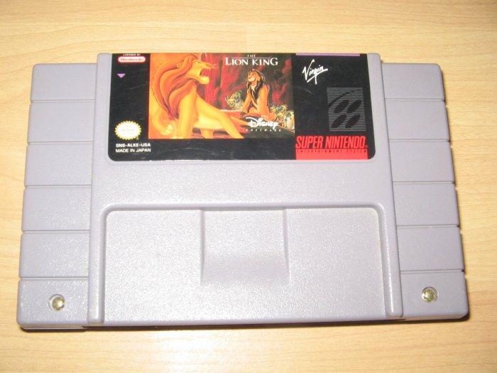 SNES Super Nintendo Lion King Game