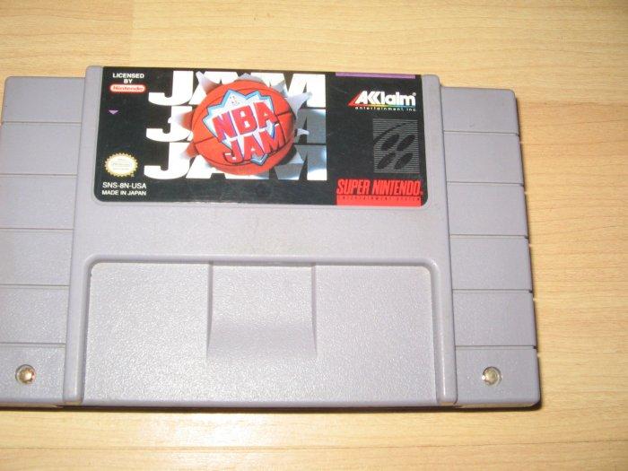 SNES Super Nintendo NBA Jam Game