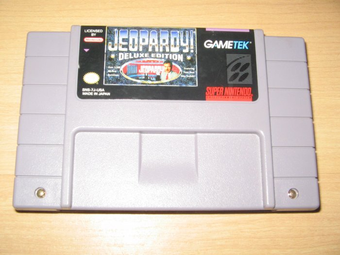 SNES Super Nintendo Jeopardy Deluxe Edition Game