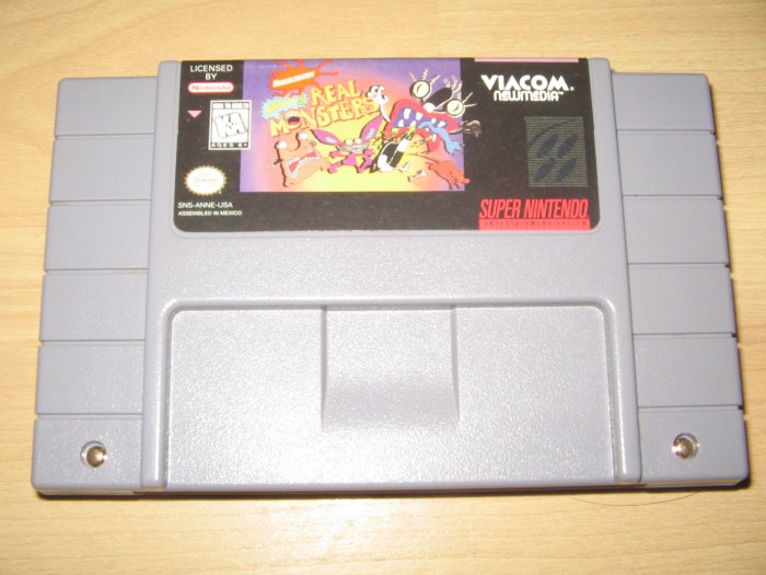 SNES Super Nintendo Nickelodeon Real Monsters Game
