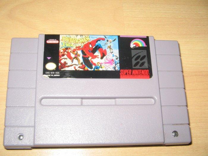 SNES Spiderman X-men Arcades Revenge Game