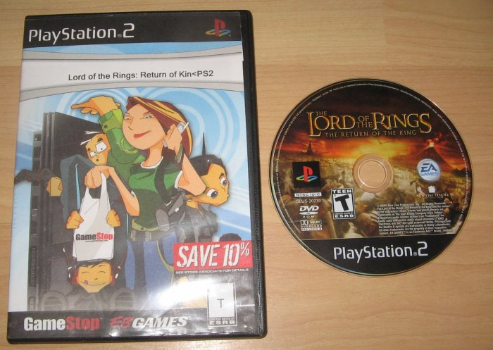 PS2 Playstation 2 Lord of the Rigns: Return of Kin
