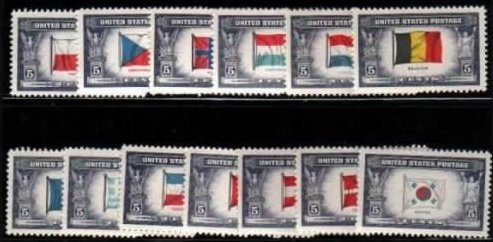 US Scott # 909-921 Overrun Countries Set of 13 MNH