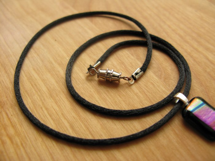 Black Satin Cord, with clasp, specify length