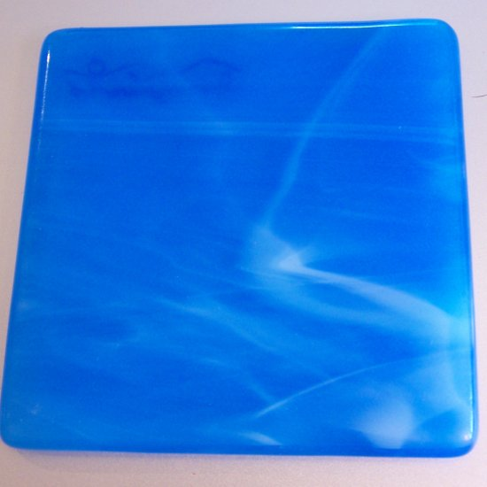Colorado Sky: Set of 4 Fused Glass Coasters, Custom Order Option