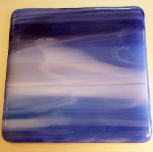 Stormy Sky: Set of 4 Fused Glass Coasters, Custom Order Option