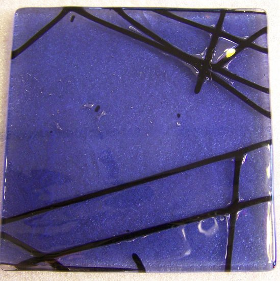 Contemporary Sky Blue: Set of 4 Fused Glass Coasters, Custom Order Option