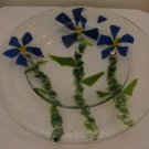 Forget-me-nots: Fused Glass Bowl, Custom Order Option