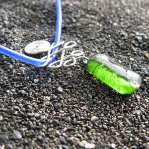 Spring Swirls: Fused glass necklace
