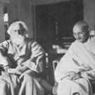 M.K Gandhi With Rabindranath Tagore 673x599 Pixel (only email delivery)