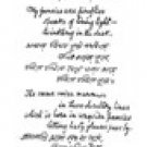 HandWriting of R. Tagore (only email delevery) - 354x669 pixels