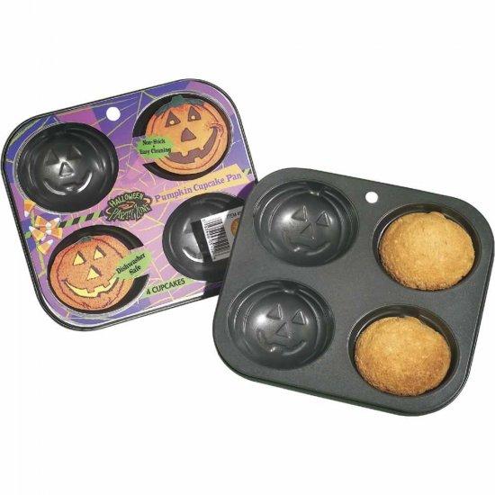 2 Pumpkin Halloween Thanksgiving Cupcake Muffin Pans